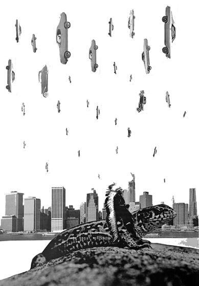 American Dream New York New York, Collage Digiprint, GFK 2016