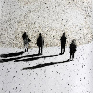 Das grosse Wunder 01, Pastellstift auf Papier, 50 x 70 cm, 2016