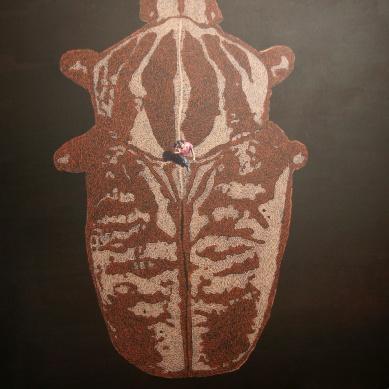 Goliathus II, Akryl auf Leinwand, 190 x 220 cm, 2015