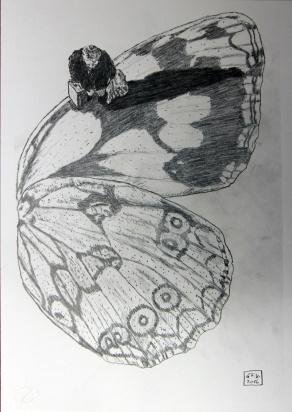 Kosmopolit 02, Graphit auf Papier, 30 x 21 cm, 2016