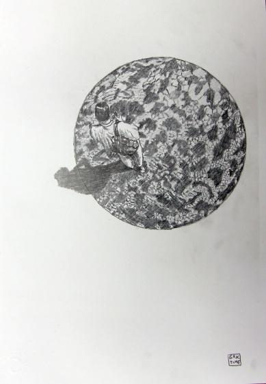 Kosmopolit 03, Graphit auf Papier, 30 x 21 cm, 2016
