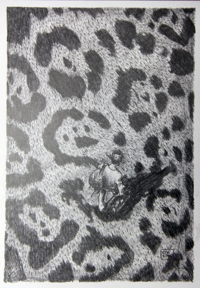 Kosmopolit 04, Graphit auf Papier, 30 x 21 cm, 2016