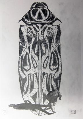 Kosmopolit 05, Graphit auf Papier, 30 x 21 cm, 2016