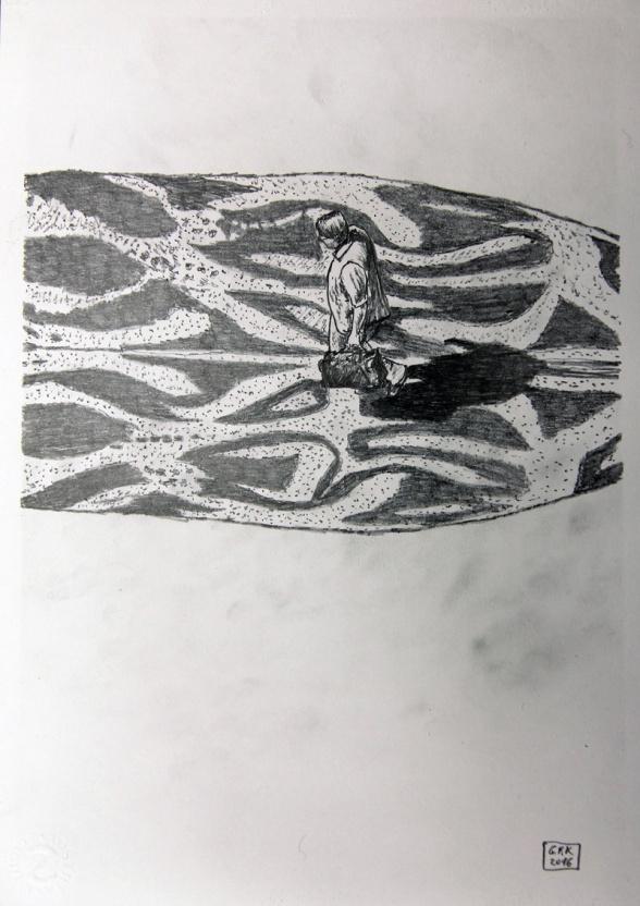 Kosmopolit 06, Graphit auf Papier, 30 x 21 cm, 2016