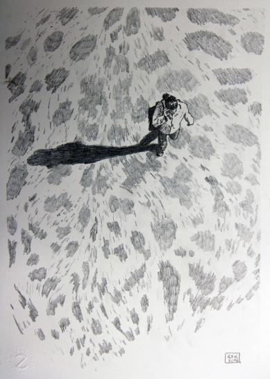 Kosmopolit 08, Graphit auf Papier, 30 x 21 cm, 2016