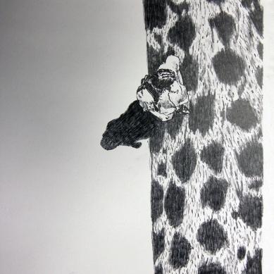 Kosmopolit 09, Graphit auf Papier, 30 x 21 cm, 2016