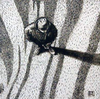 Serie Terra Coleoptera 1, Akryl auf Leinwand, 30 x 30 cm, 2015