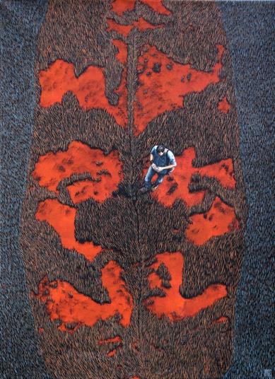 Terra Coleoptera 4, Walking on Exotic Grounds, 90 x 120 cm, Akryl auf Leinwand, 2015