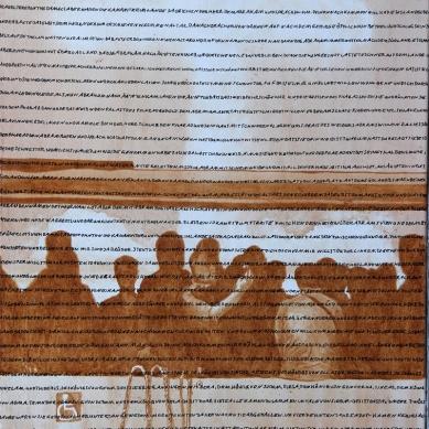Und Gott sprach 2, Akryl auf Leinwand, 60 x 80 cm, 2016