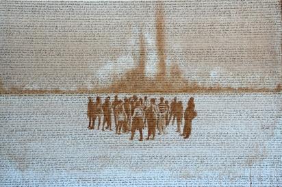 Und Gott sprach I, Akryl auf Leinwand, 120 x 80 cm, 2016