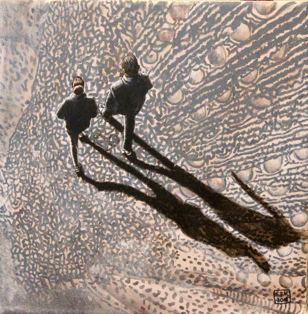 Walking on Wings 2, Akryl auf Leinwand, 30 x 30 cm, 2015
