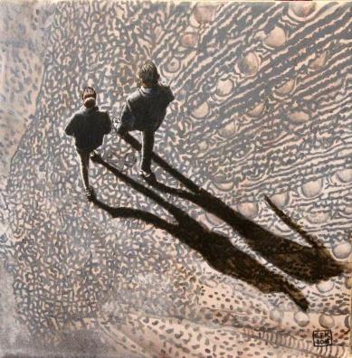 Walking on Wings 2, Akryl auf Leinwand, 30 x 30 cm, 2015