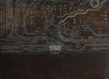 """""""Die neue Weltordnung """"2/The new world order, 120x80cm, Acryl auf Leinwand, GFK 2017"""